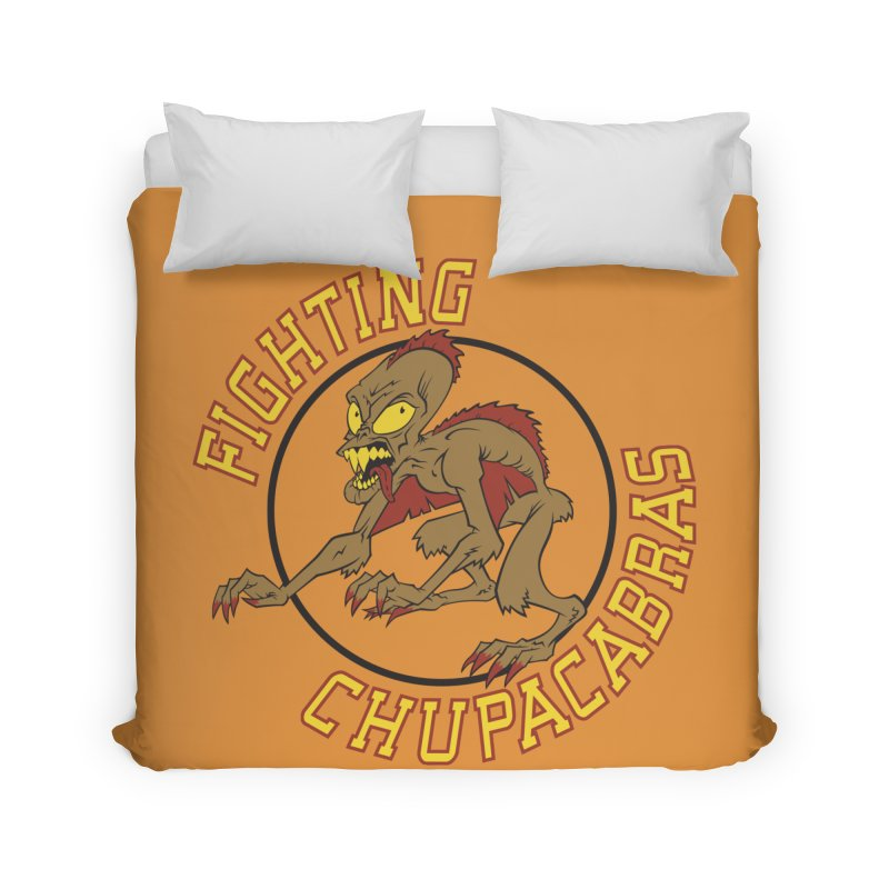 Fighting Chupacabras Home Duvet by bennygraphix's Artist Shop