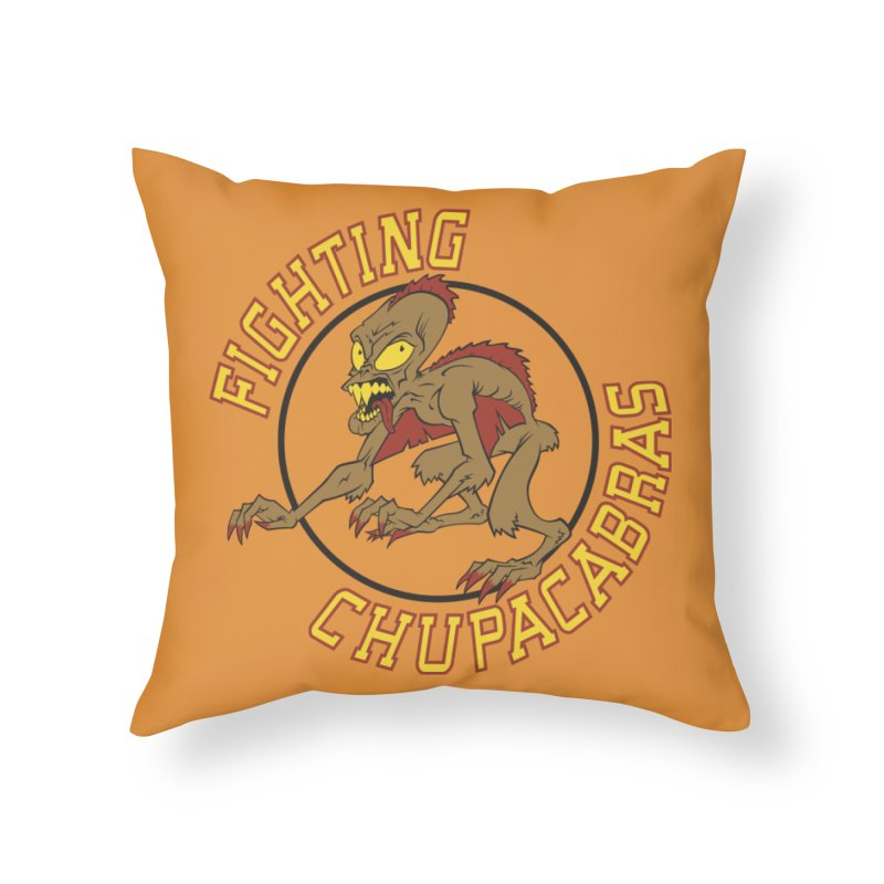 Fighting Chupacabras Home Throw Pillow by bennygraphix's Artist Shop