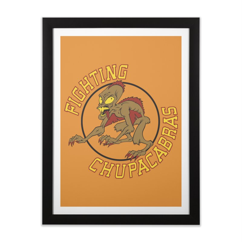 Fighting Chupacabras Home Framed Fine Art Print by bennygraphix's Artist Shop