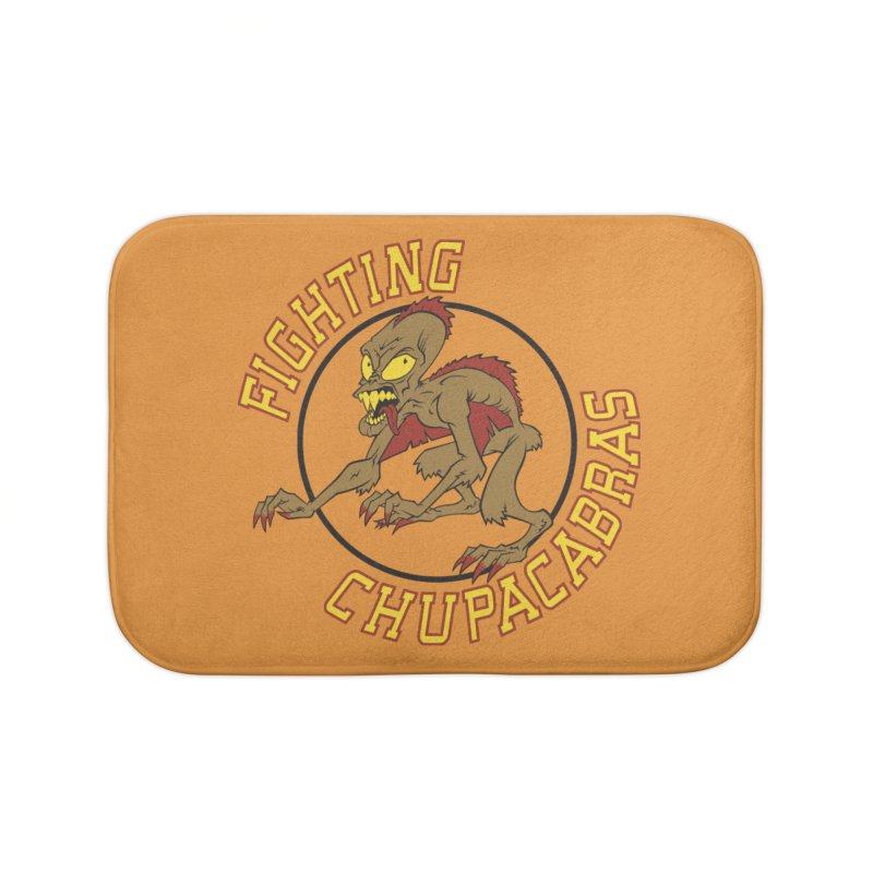 Fighting Chupacabras Home Bath Mat by bennygraphix's Artist Shop