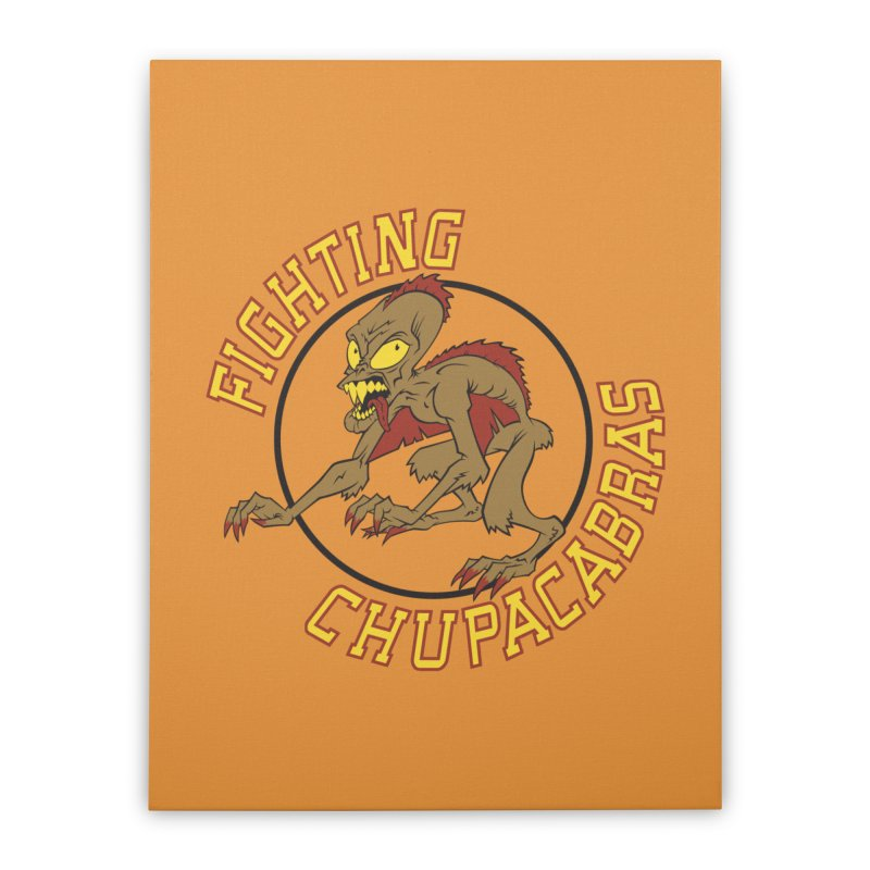 Fighting Chupacabras Home Stretched Canvas by bennygraphix's Artist Shop