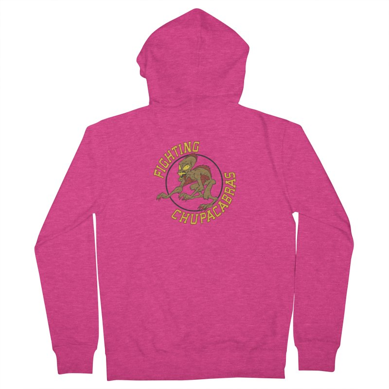 Fighting Chupacabras Women's French Terry Zip-Up Hoody by bennygraphix's Artist Shop