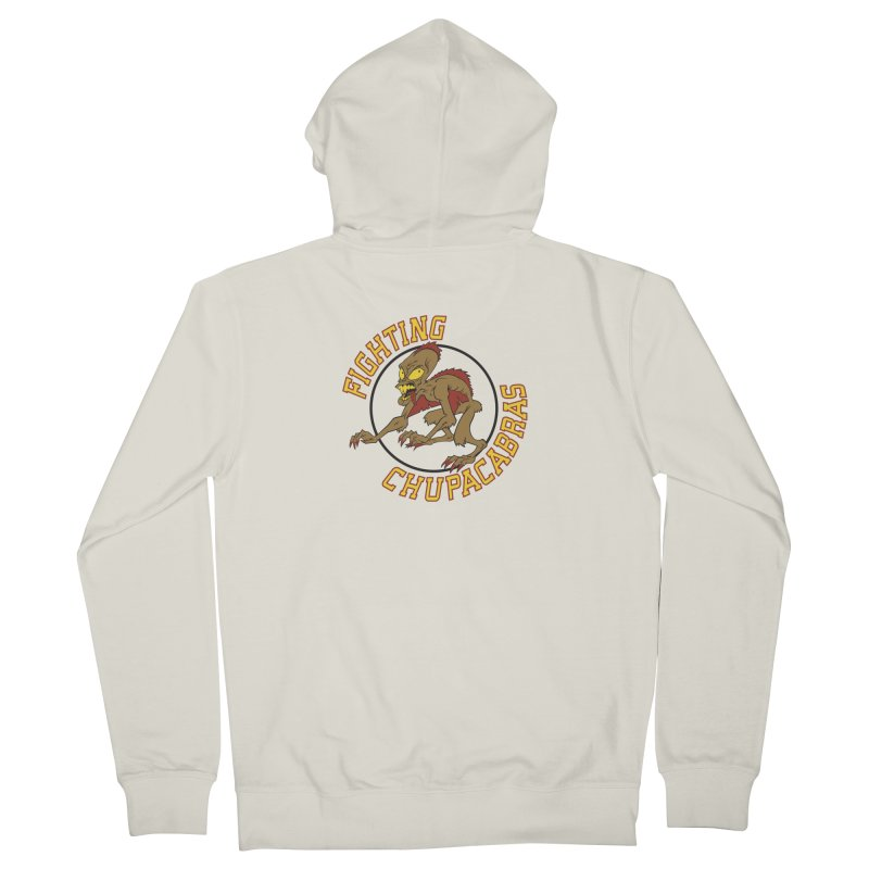 Fighting Chupacabras Men's French Terry Zip-Up Hoody by bennygraphix's Artist Shop