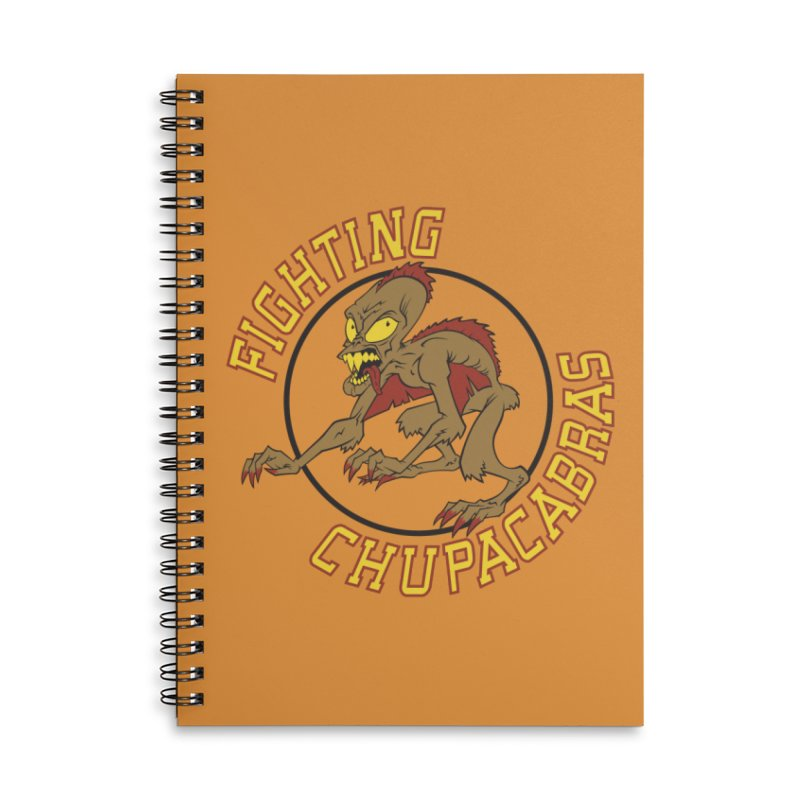 Fighting Chupacabras Accessories Lined Spiral Notebook by bennygraphix's Artist Shop