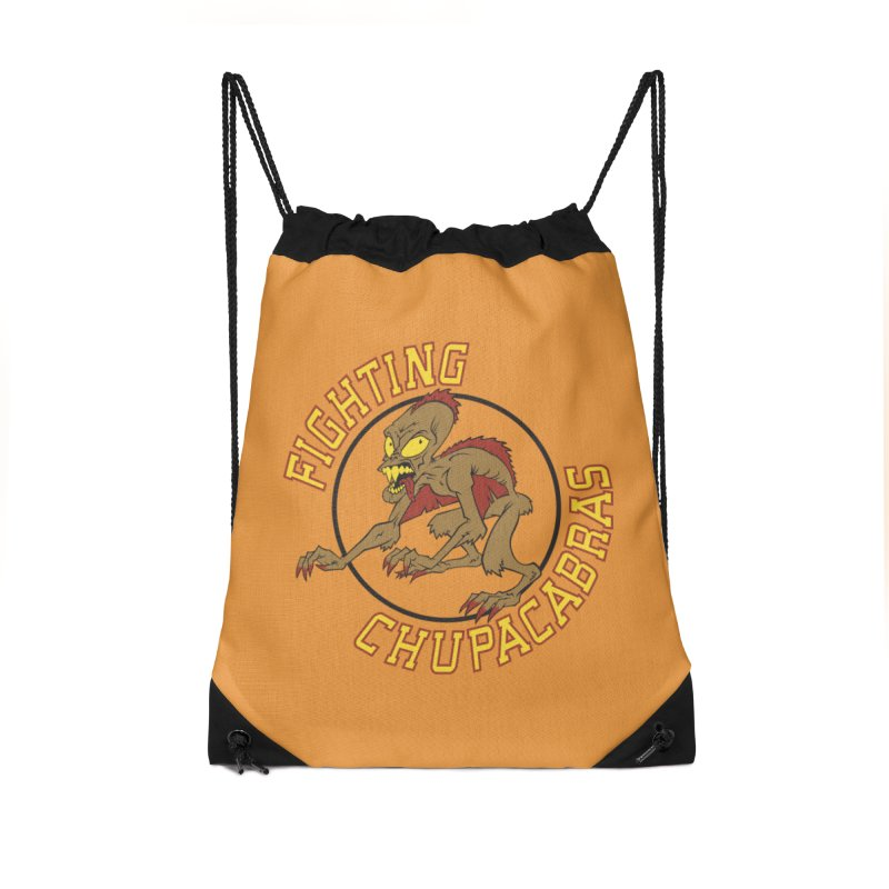 Fighting Chupacabras Accessories Drawstring Bag Bag by bennygraphix's Artist Shop