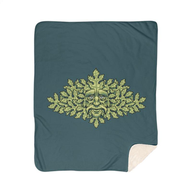 Greenman Home Blanket by bennygraphix's Artist Shop