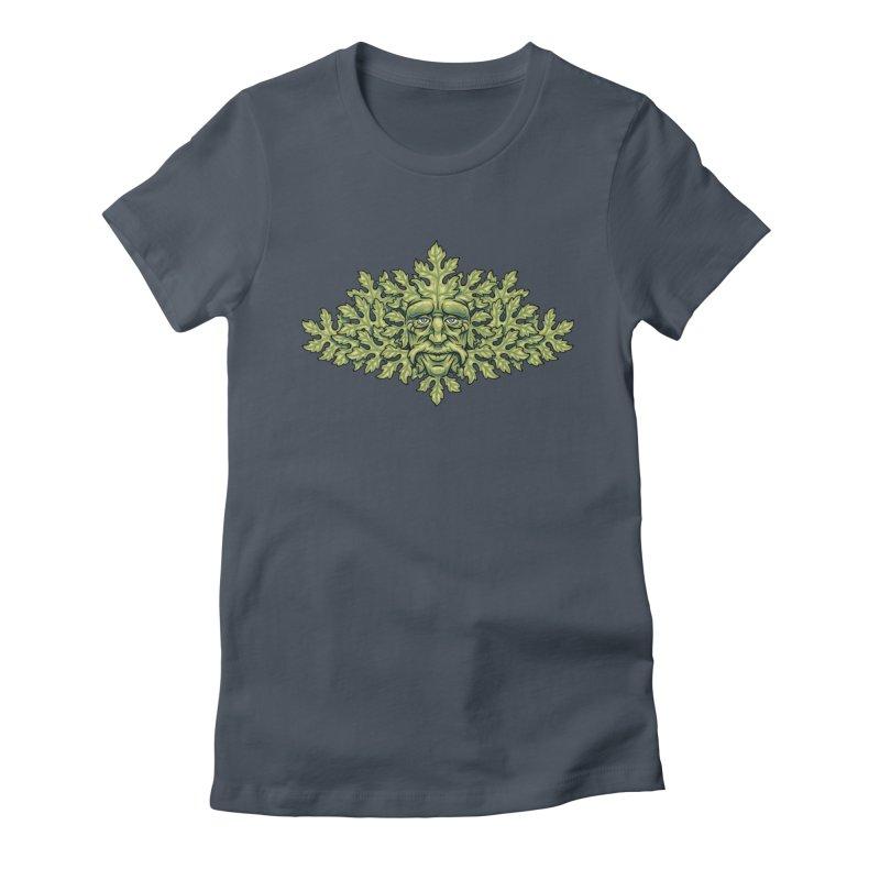 Greenman Women's T-Shirt by bennygraphix's Artist Shop