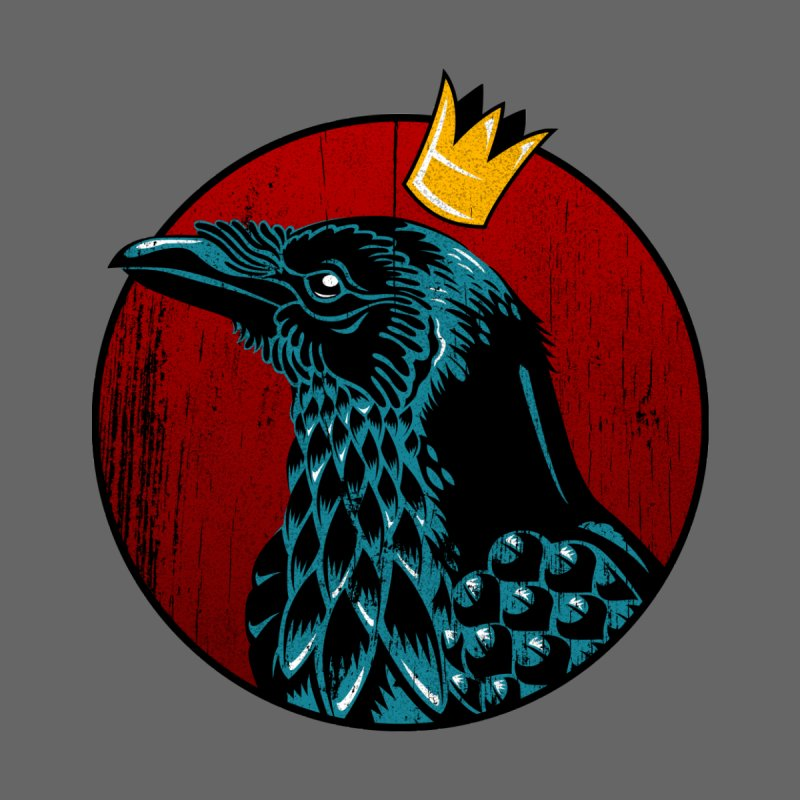 King Crow Men's V-Neck by bennygraphix's Artist Shop