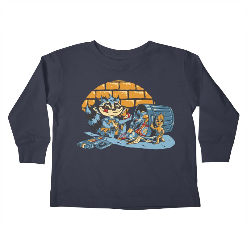 Dumpster Divers Kids Toddler Longsleeve T-Shirt by bennygraphix's Artist Shop