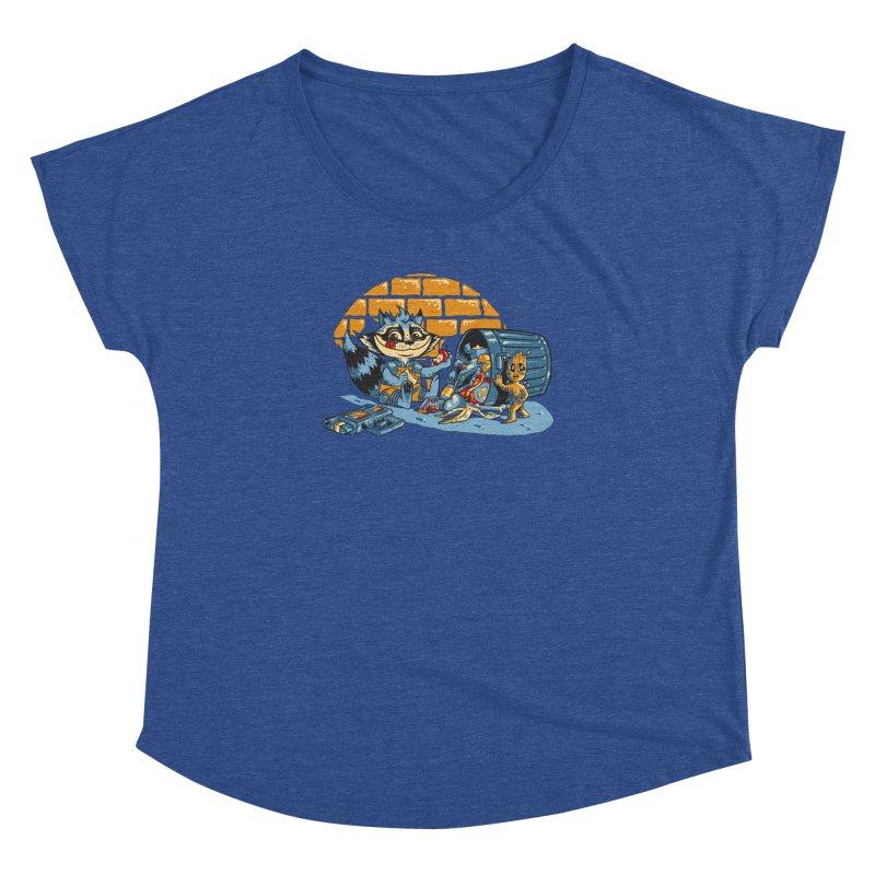 Dumpster Divers Women's Dolman Scoop Neck by bennygraphix's Artist Shop