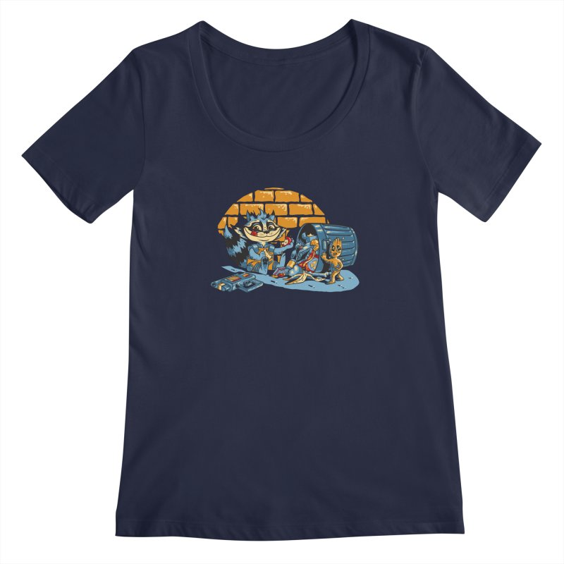 Dumpster Divers Women's Scoopneck by bennygraphix's Artist Shop
