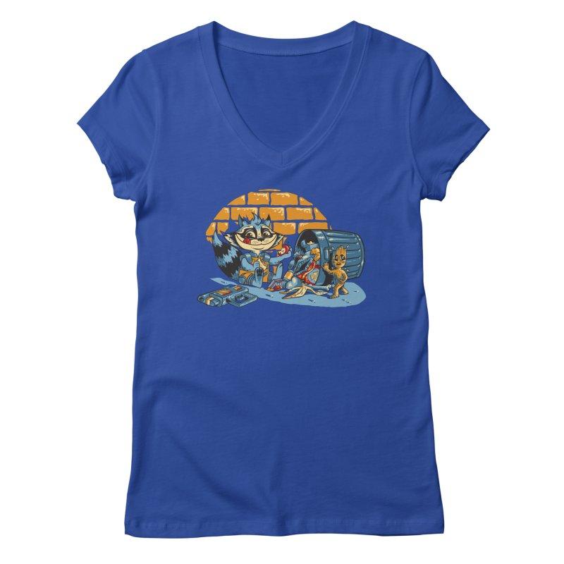 Dumpster Divers Women's V-Neck by bennygraphix's Artist Shop
