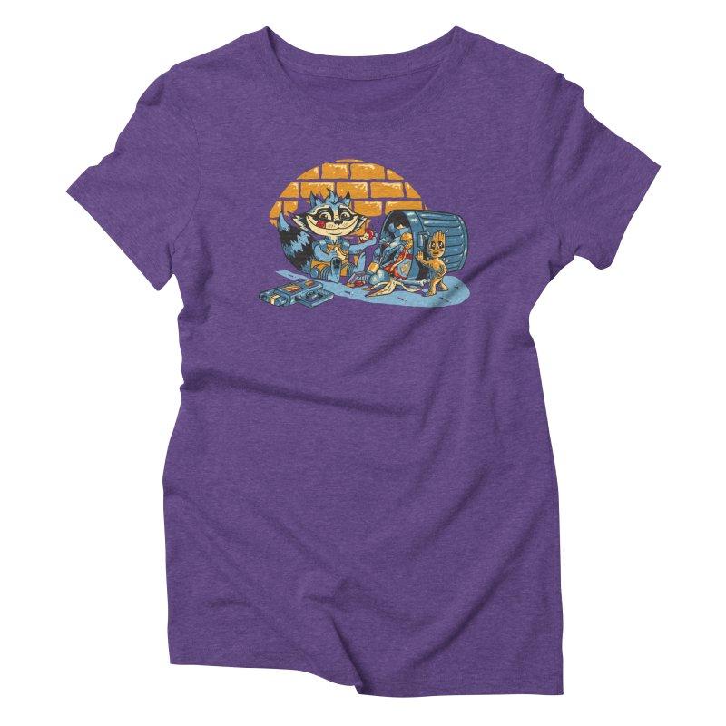 Dumpster Divers Women's Triblend T-Shirt by bennygraphix's Artist Shop