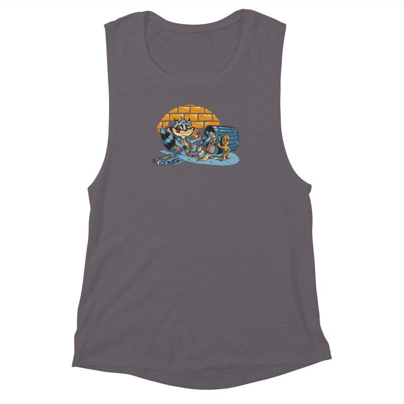 Dumpster Divers Women's Muscle Tank by bennygraphix's Artist Shop
