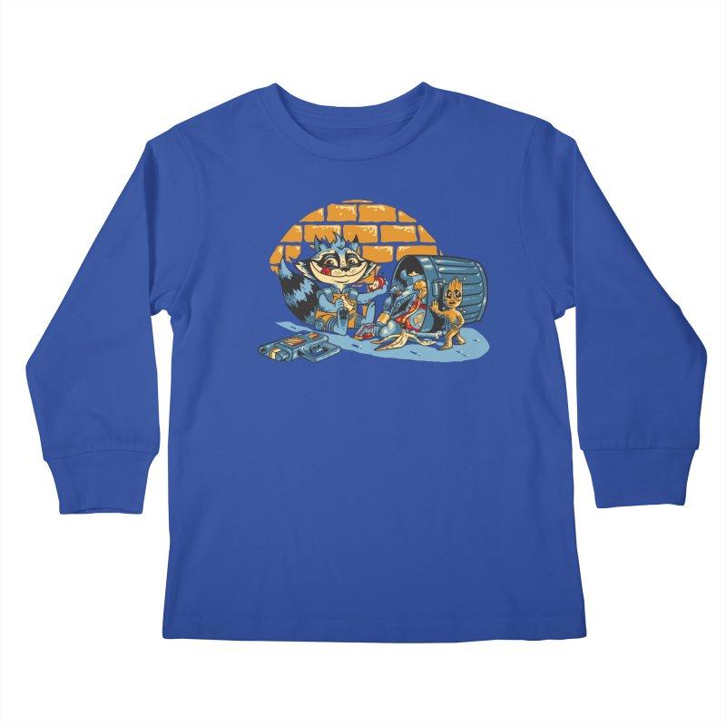 Dumpster Divers Kids Longsleeve T-Shirt by bennygraphix's Artist Shop