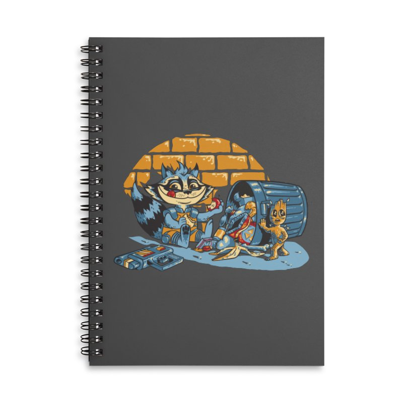 Dumpster Divers Accessories Lined Spiral Notebook by bennygraphix's Artist Shop