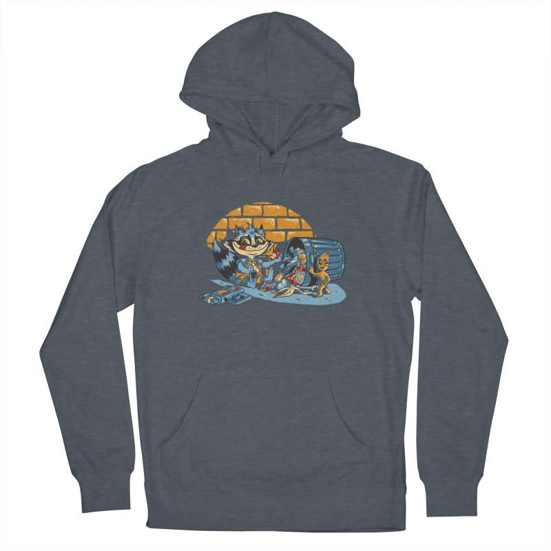 Dumpster Divers Men's French Terry Pullover Hoody by bennygraphix's Artist Shop