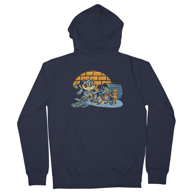 Dumpster Divers Men's French Terry Zip-Up Hoody by bennygraphix's Artist Shop