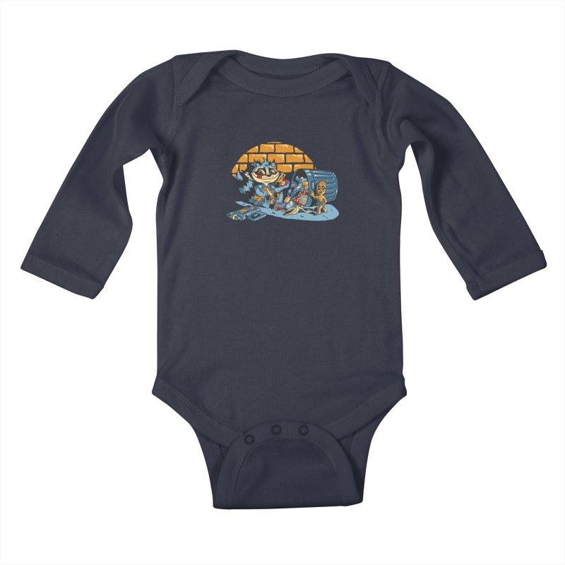 Dumpster Divers Kids Baby Longsleeve Bodysuit by bennygraphix's Artist Shop
