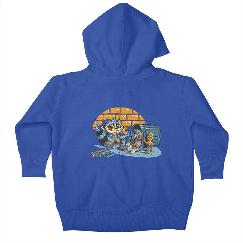 Dumpster Divers Kids Baby Zip-Up Hoody by bennygraphix's Artist Shop