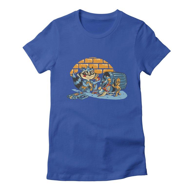 Dumpster Divers Women's Fitted T-Shirt by bennygraphix's Artist Shop