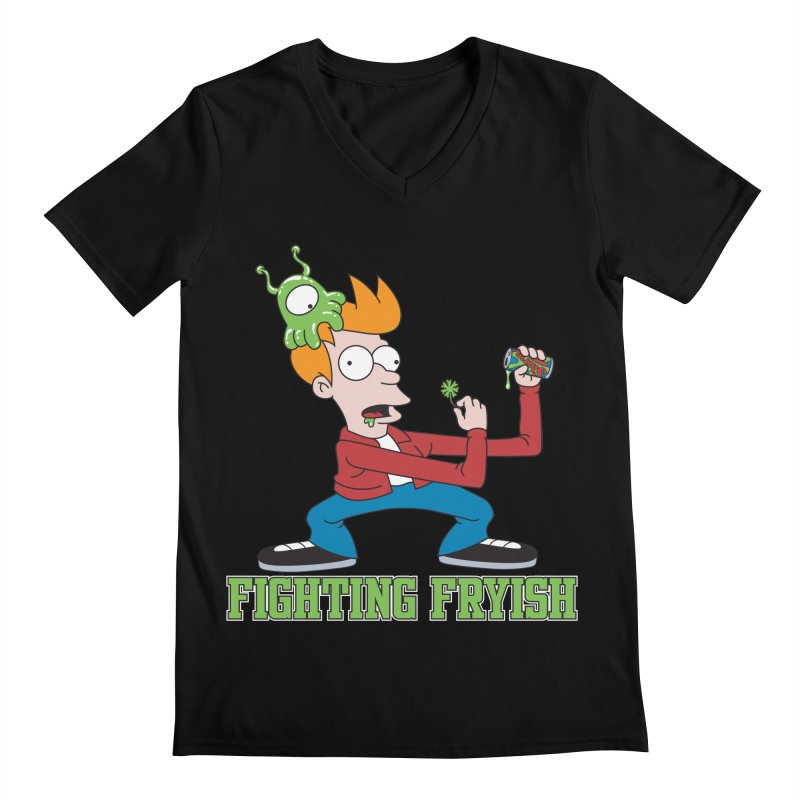 Fighting Fryish Men's V-Neck by bennygraphix's Artist Shop