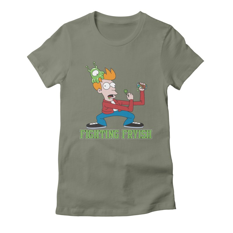 Fighting Fryish Women's Fitted T-Shirt by bennygraphix's Artist Shop