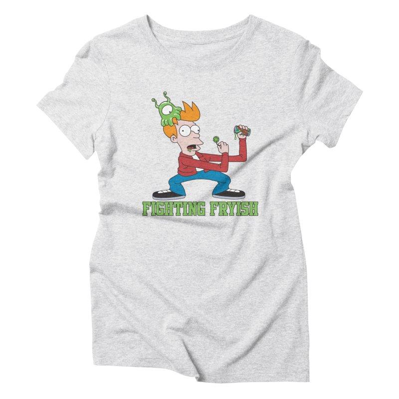 Fighting Fryish Women's Triblend T-Shirt by bennygraphix's Artist Shop