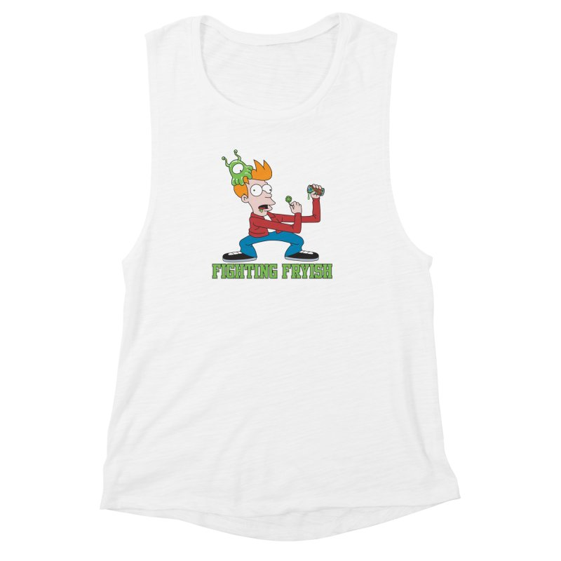 Fighting Fryish Women's Muscle Tank by bennygraphix's Artist Shop