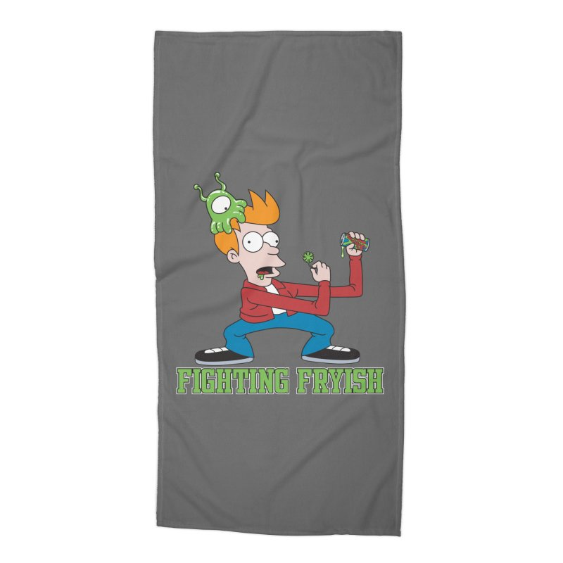 Fighting Fryish Accessories Beach Towel by bennygraphix's Artist Shop