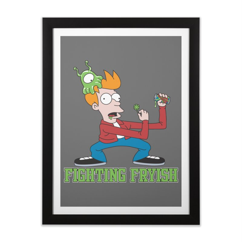 Fighting Fryish Home Framed Fine Art Print by bennygraphix's Artist Shop
