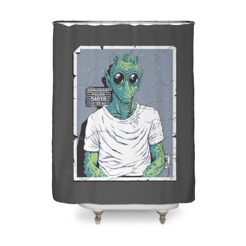 Lone Gunman Home Shower Curtain by bennygraphix's Artist Shop