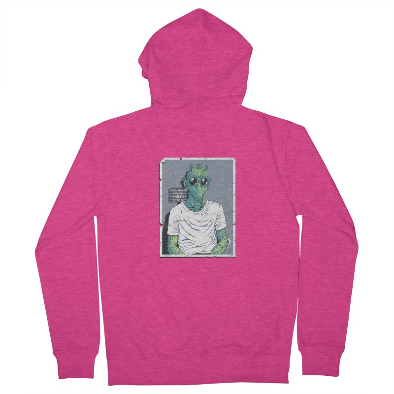 Lone Gunman Women's French Terry Zip-Up Hoody by bennygraphix's Artist Shop