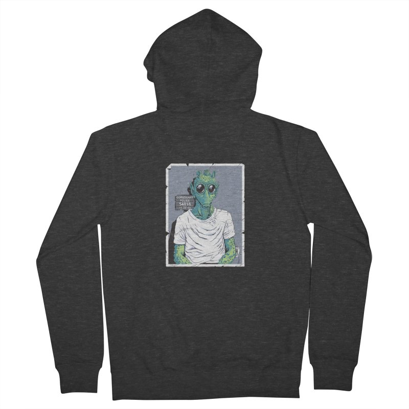 Lone Gunman Men's French Terry Zip-Up Hoody by bennygraphix's Artist Shop