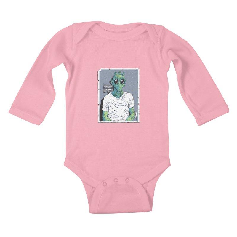 Lone Gunman Kids Baby Longsleeve Bodysuit by bennygraphix's Artist Shop