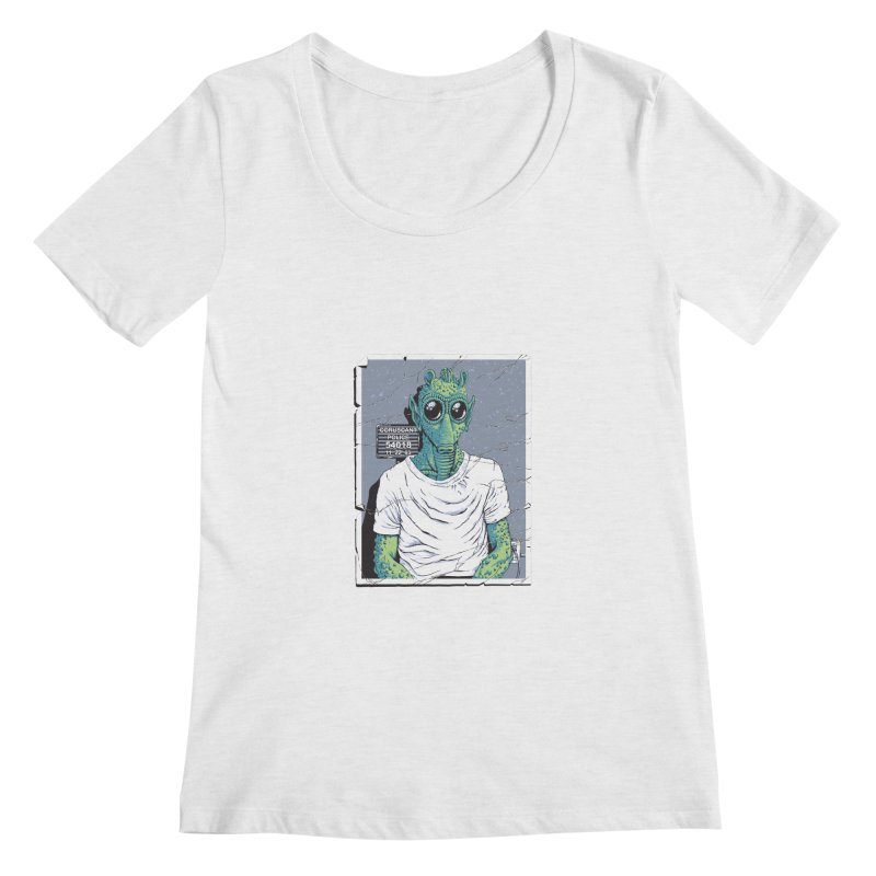 Lone Gunman Women's Regular Scoop Neck by bennygraphix's Artist Shop