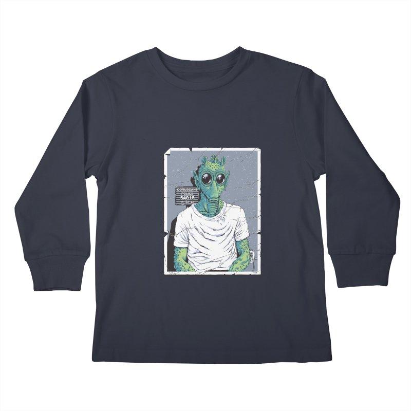 Lone Gunman Kids Longsleeve T-Shirt by bennygraphix's Artist Shop