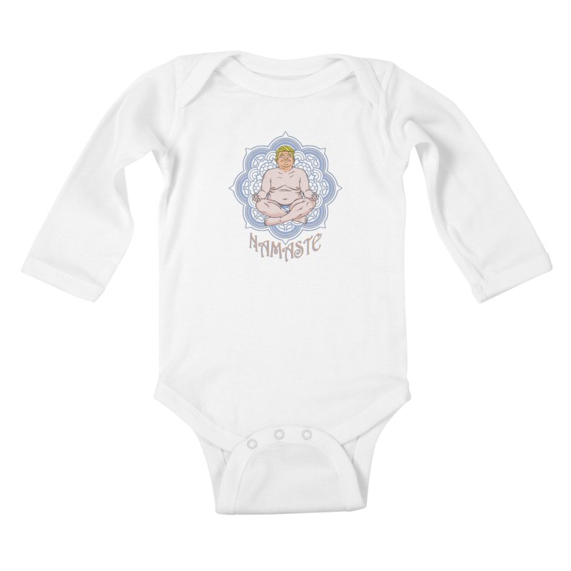Namaste Trump Kids Baby Longsleeve Bodysuit by bennygraphix's Artist Shop