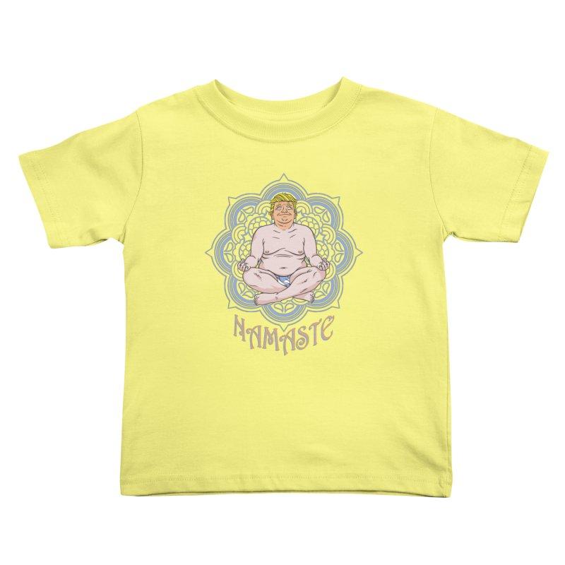 Namaste Trump Kids Toddler T-Shirt by bennygraphix's Artist Shop