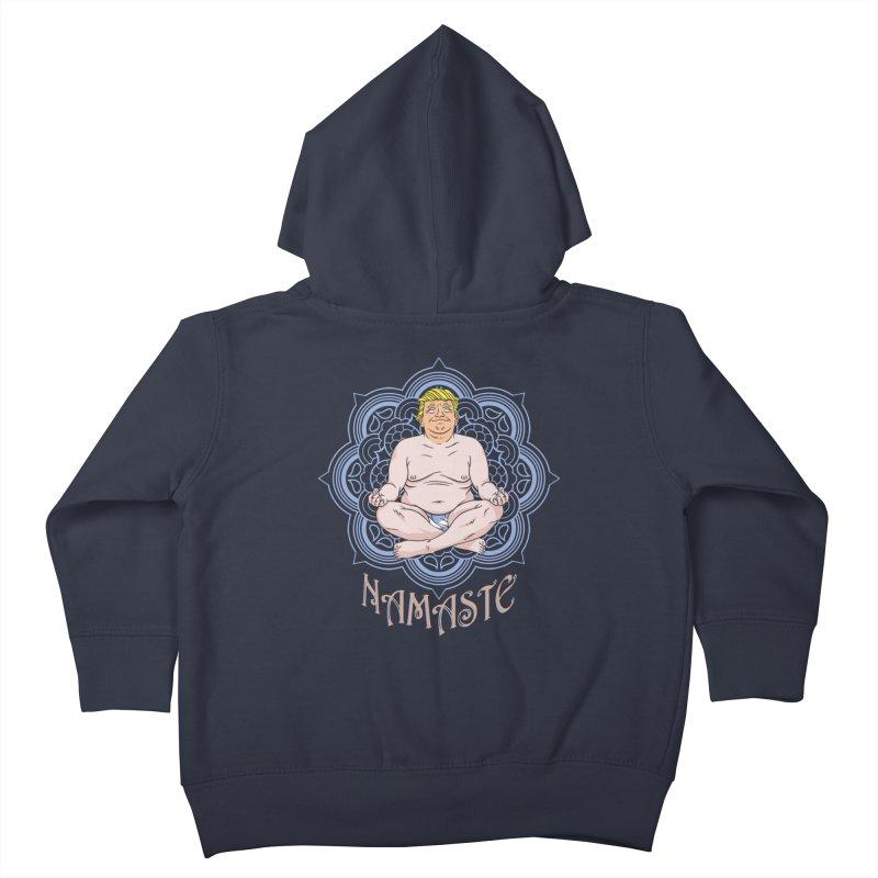 Namaste Trump Kids Toddler Zip-Up Hoody by bennygraphix's Artist Shop
