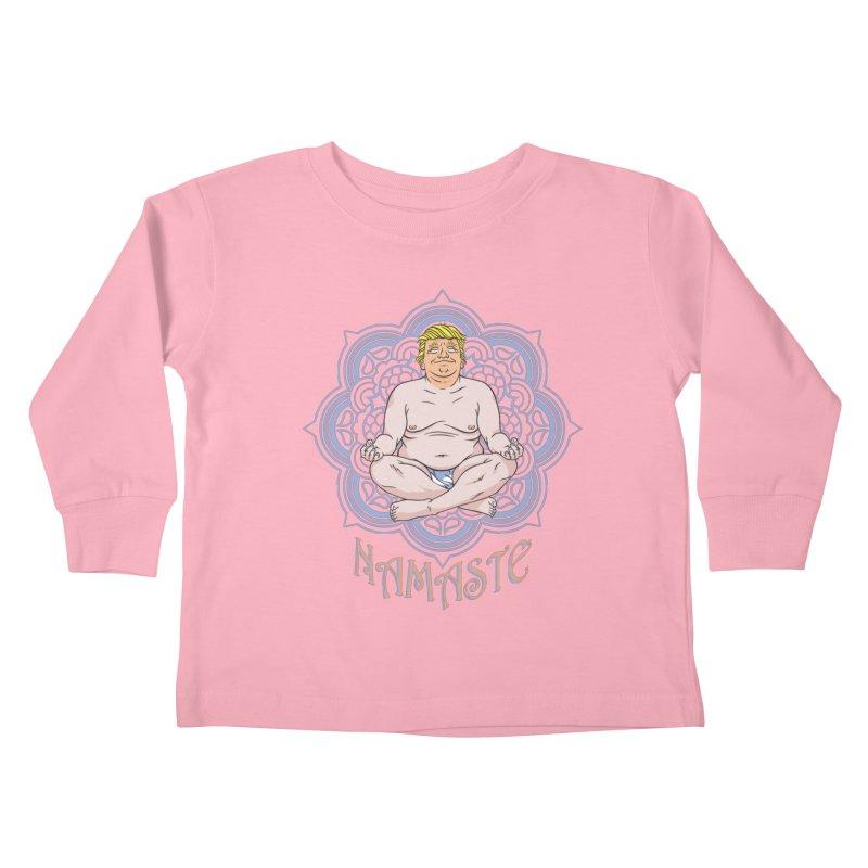 Namaste Trump Kids Toddler Longsleeve T-Shirt by bennygraphix's Artist Shop