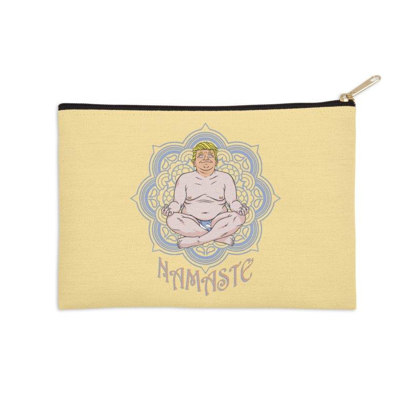 Namaste Trump Accessories Zip Pouch by bennygraphix's Artist Shop