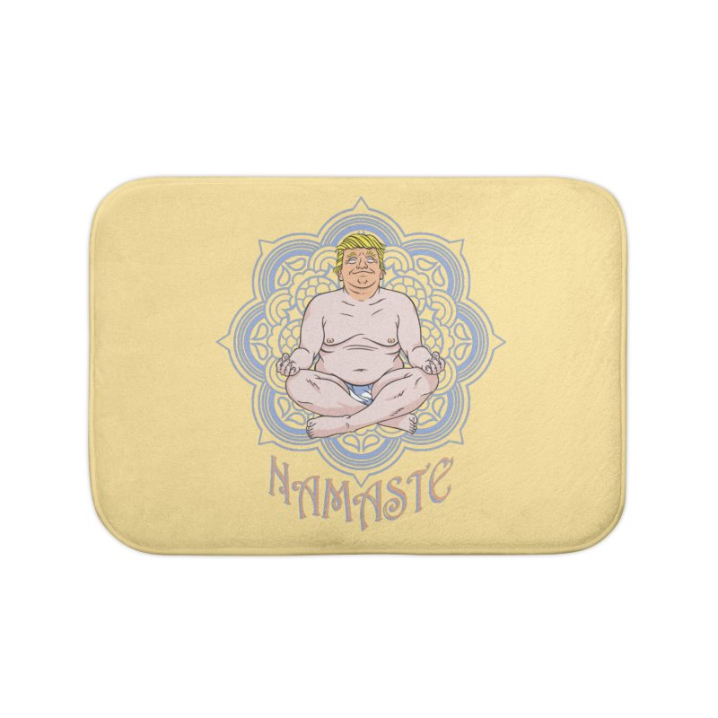Namaste Trump Home Bath Mat by bennygraphix's Artist Shop