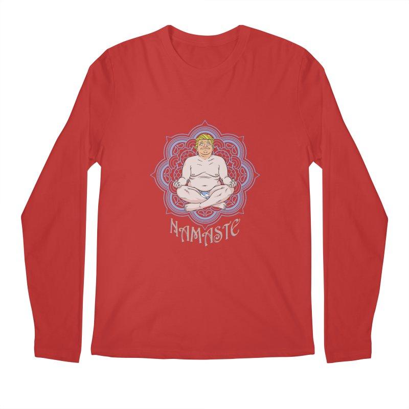 Namaste Trump Men's Regular Longsleeve T-Shirt by bennygraphix's Artist Shop