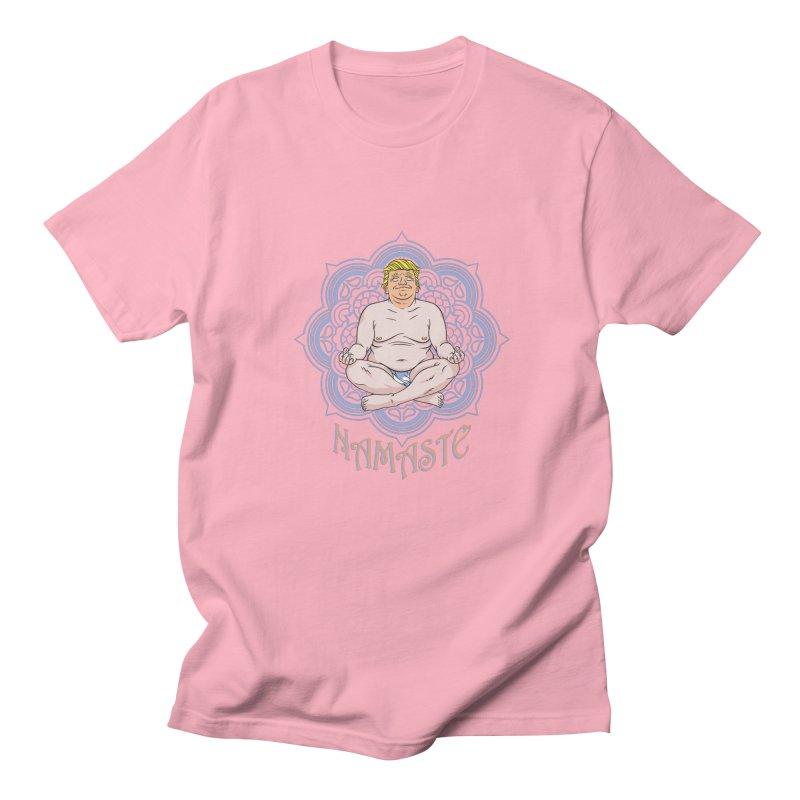 Namaste Trump Women's Regular Unisex T-Shirt by bennygraphix's Artist Shop
