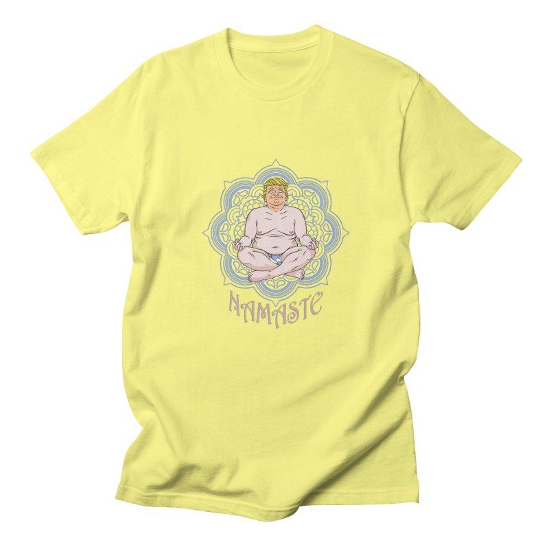 Namaste Trump Men's Regular T-Shirt by bennygraphix's Artist Shop