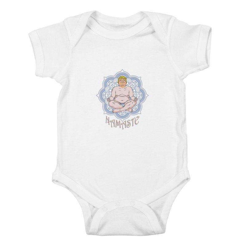 Namaste Trump Kids Baby Bodysuit by bennygraphix's Artist Shop