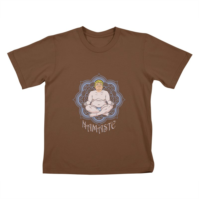 Namaste Trump Kids T-Shirt by bennygraphix's Artist Shop