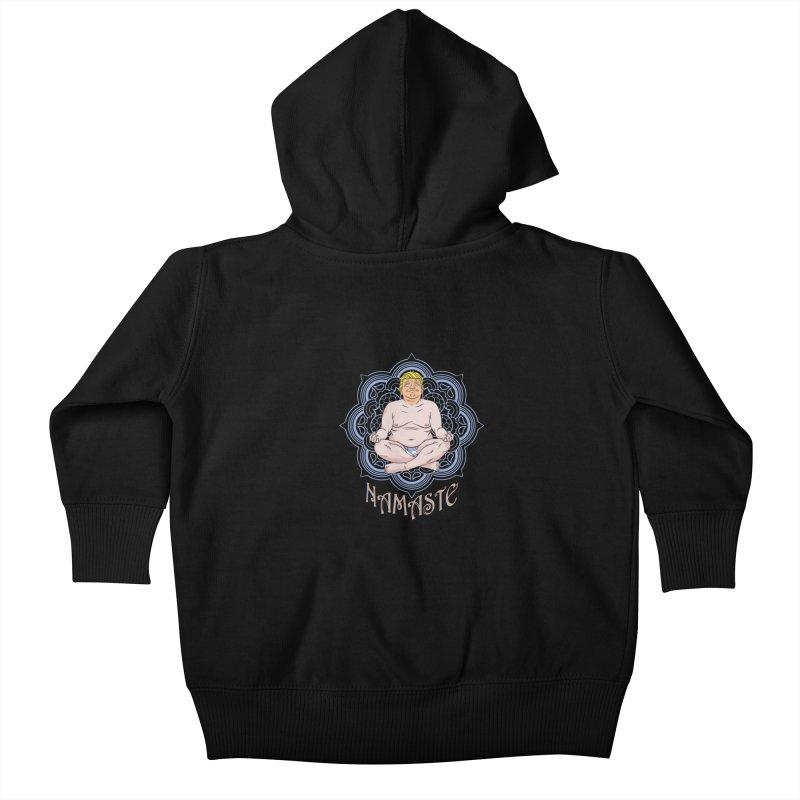 Namaste Trump Kids Baby Zip-Up Hoody by bennygraphix's Artist Shop