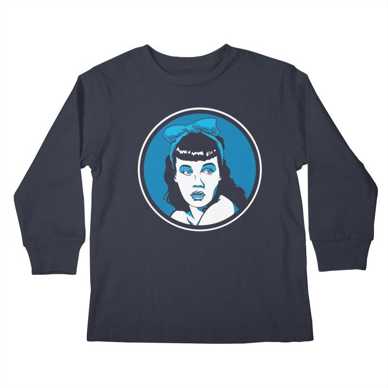 Bettie Bow Kids Longsleeve T-Shirt by bennygraphix's Artist Shop